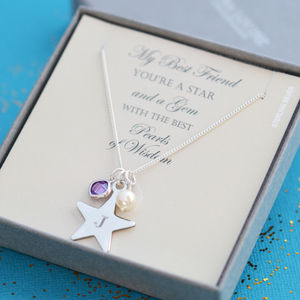 Best Friend, Mum Or Sister, Silver Star Necklace
