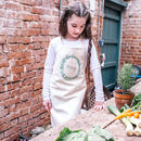 Personalised Eucalyptus Gardening Cotton Apron Set