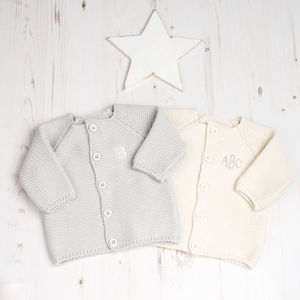 Baby Unisex Bubble Knitted Cardigan - clothing