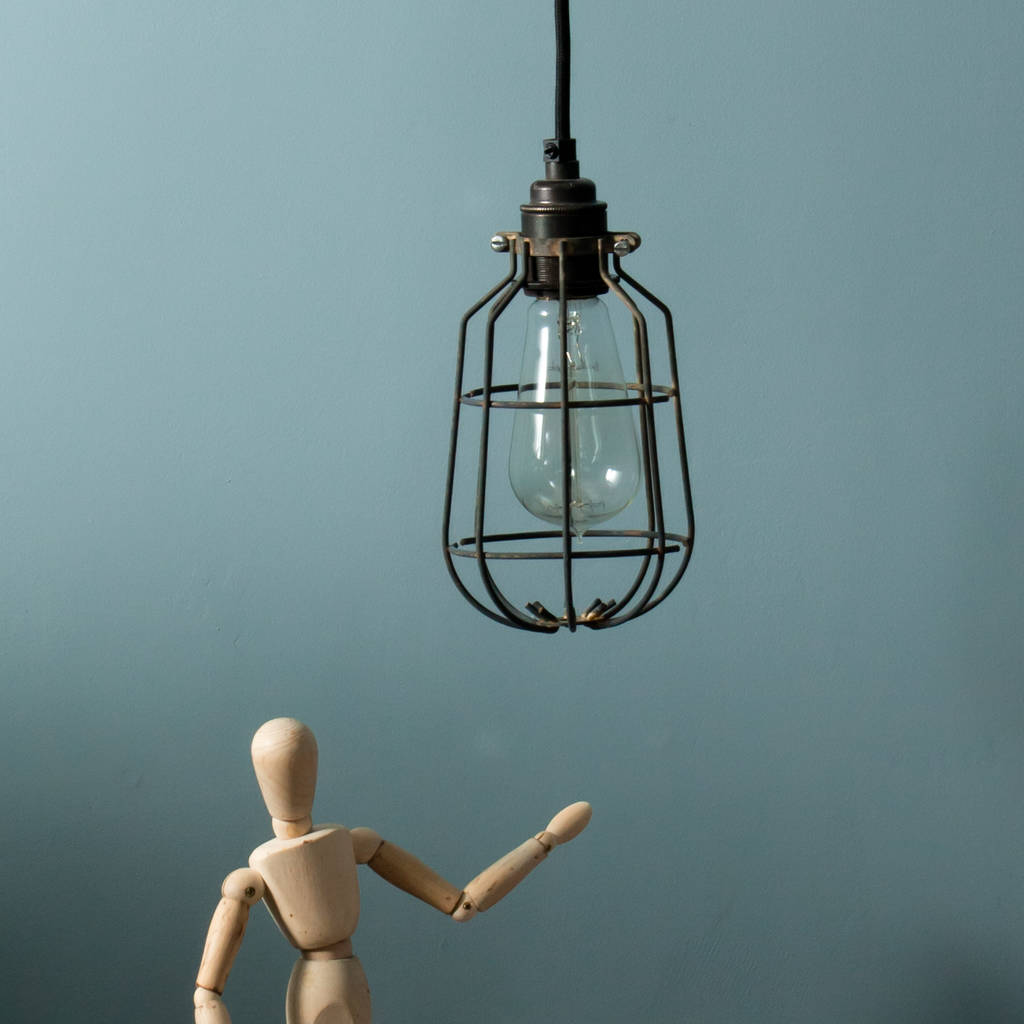 Drop industrial ceiling light cage shade by dowsing reynolds drop industrial ceiling light cage shade aloadofball Gallery