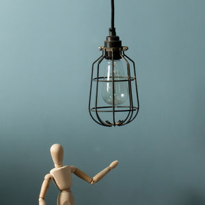 Drop Industrial Ceiling Light Cage Shade - ceiling lights