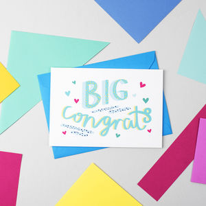 'Big Congrats!' Congratulations Card