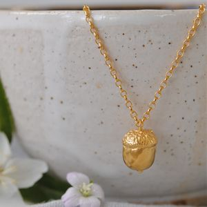 Gold Acorn Necklace - necklaces & pendants