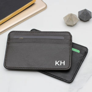 Personalised Luxury Italian Leather Credit Card Holder
