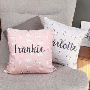 Personalised Illustrated Animal Cushion - children's cushions