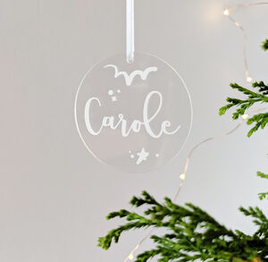 Personalised Modern Bauble Tree Decoration