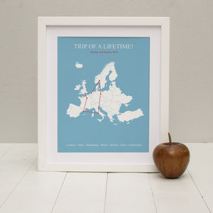 'Multi Stop Adventure' Personalised Print - posters & prints