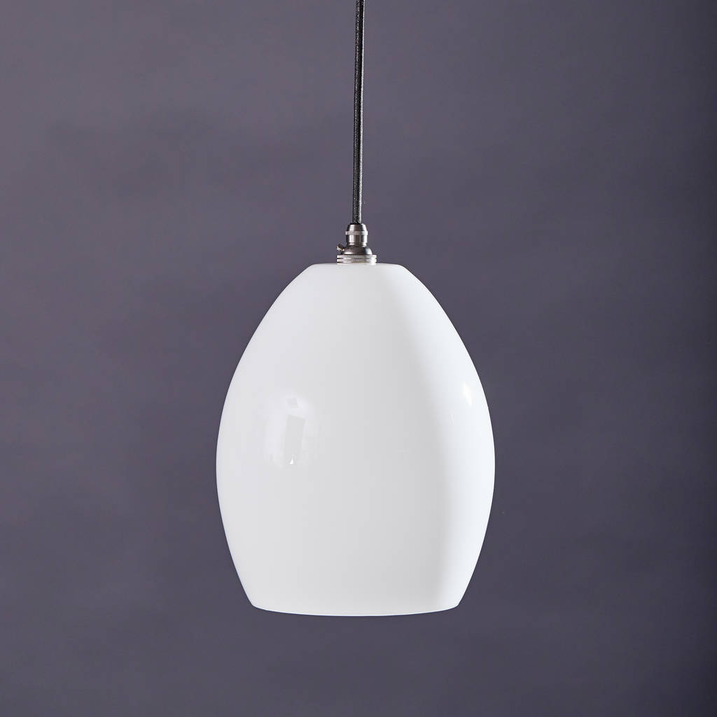 Large Coloured Glass Pendant Light