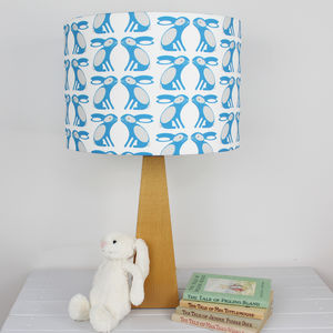Bunny Pattern Drum Lampshade - children's lighting