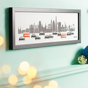 Panoramic London City Print - gifts for him
