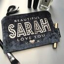 Slate Grey Velvet Bridesmaid Clutch Style Bag
