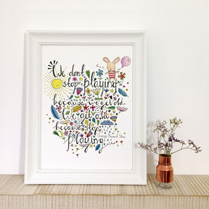 Motivational And Inspirational Colouring In Quote Art - baby & child