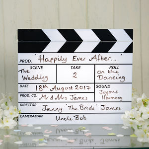 Clapperboard Lightbox - statement wedding decor