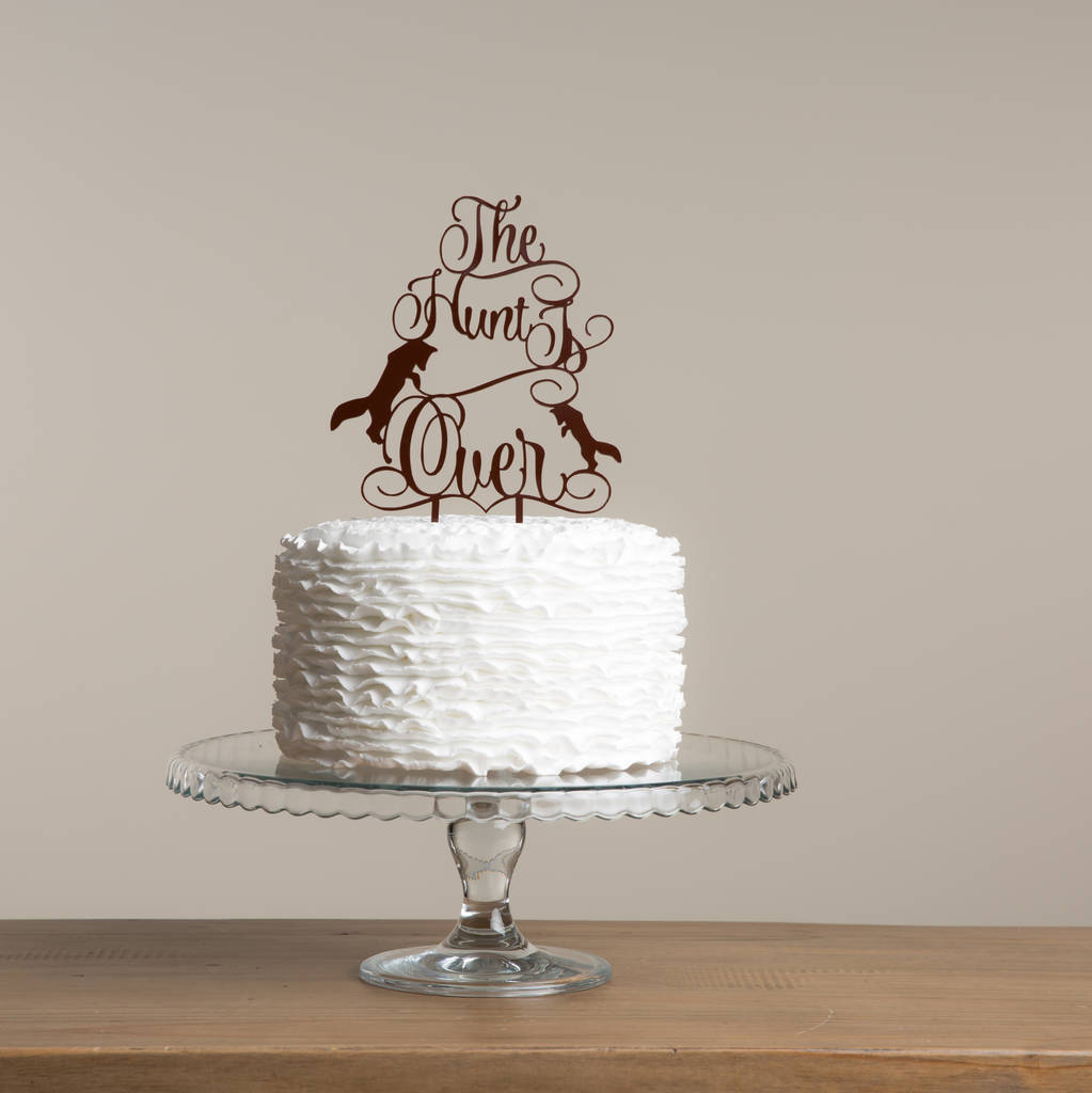The Hunt Is Over Wedding Cake Topper Gift Set