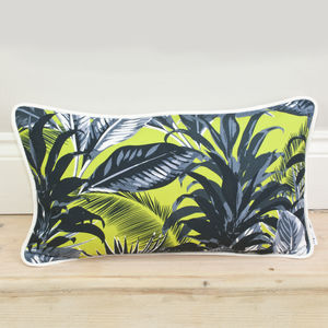 Tropical Palm Print Bolster Cushion - winter sale