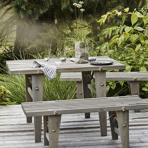 Harmen Outdoor Table And Bench - garden furniture
