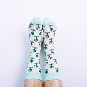Cotton Cactus Print Socks - women's fashion