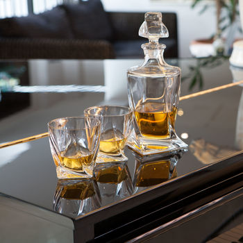 Personalised Twist Whisky Crystal Set
