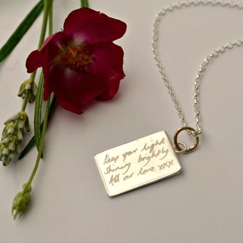 Your Handwriting Message Necklace
