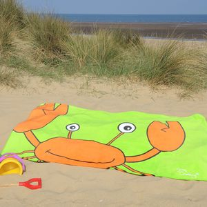 Colin The Crab Beach Towel - bathroom