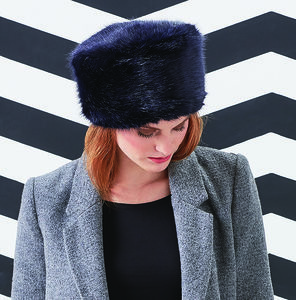 Faux Fur Pillbox Hats