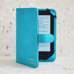 Turquoise Kindle Case Personalised In Gold