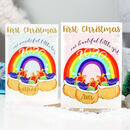 Personalised Rainbow First Christmas Card