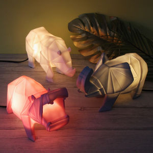 Origami Safari Animal Night Light - children's lighting