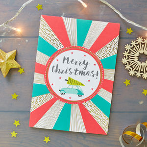 Gold Foiled Luxury Christmas Card - cards & wrap