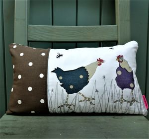 The Pecking Order Hen Cushion