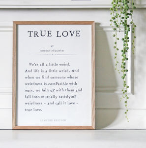 Personalised Book Page Print - best wedding gifts