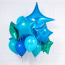 Peacock Blue Crazy Party Balloon Bunch