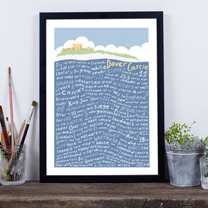 Dover Castle Typography Print - posters & prints