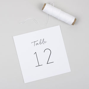 Minimalist Table Number Cards Pack - table numbers