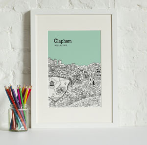 Personalised Clapham Print - maps & locations