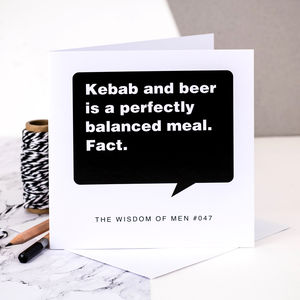 18th Birthday Card For Men 'Kebab And Beer'