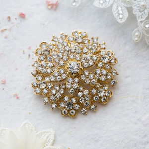 Georgie Chunky Stone Brooch - pins & brooches