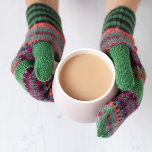 Fabulous Fairisle Knit Gloves - gloves
