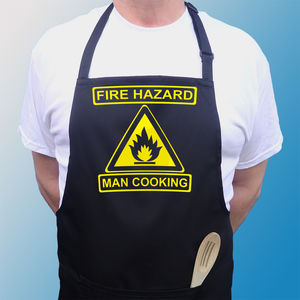 Men's Fire Hazard Apron - kitchen