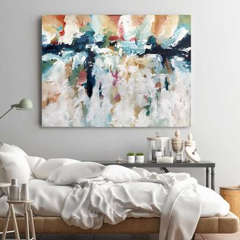 Large Textured Palette Knife Original Abstract Painting