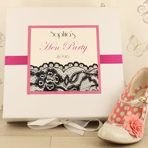 Personalised Lace Hen Party Memory Box