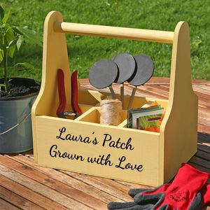 Personalised Garden Caddy