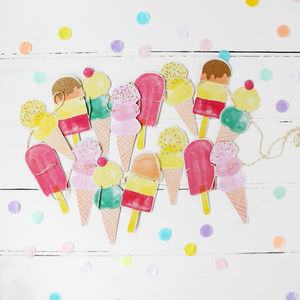Ice Cream Ice Lolly Party Garland