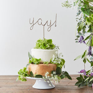 Yay! Wire Cake Topper - baking