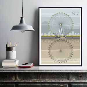 London Eye Architectural Illustration Print - drawings & illustrations