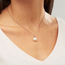 Rose Gold Pearl Necklace - Off White Sawrovski Pearl by Claudette Worters