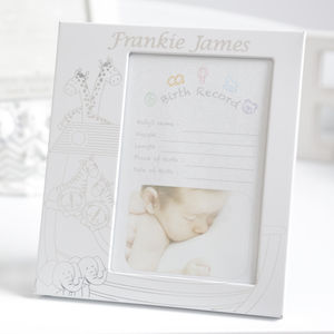 Personalised Noah's Ark Photo Frame - picture frames