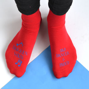 Personalised Dad Dancer And Proud Socks - men's fashion