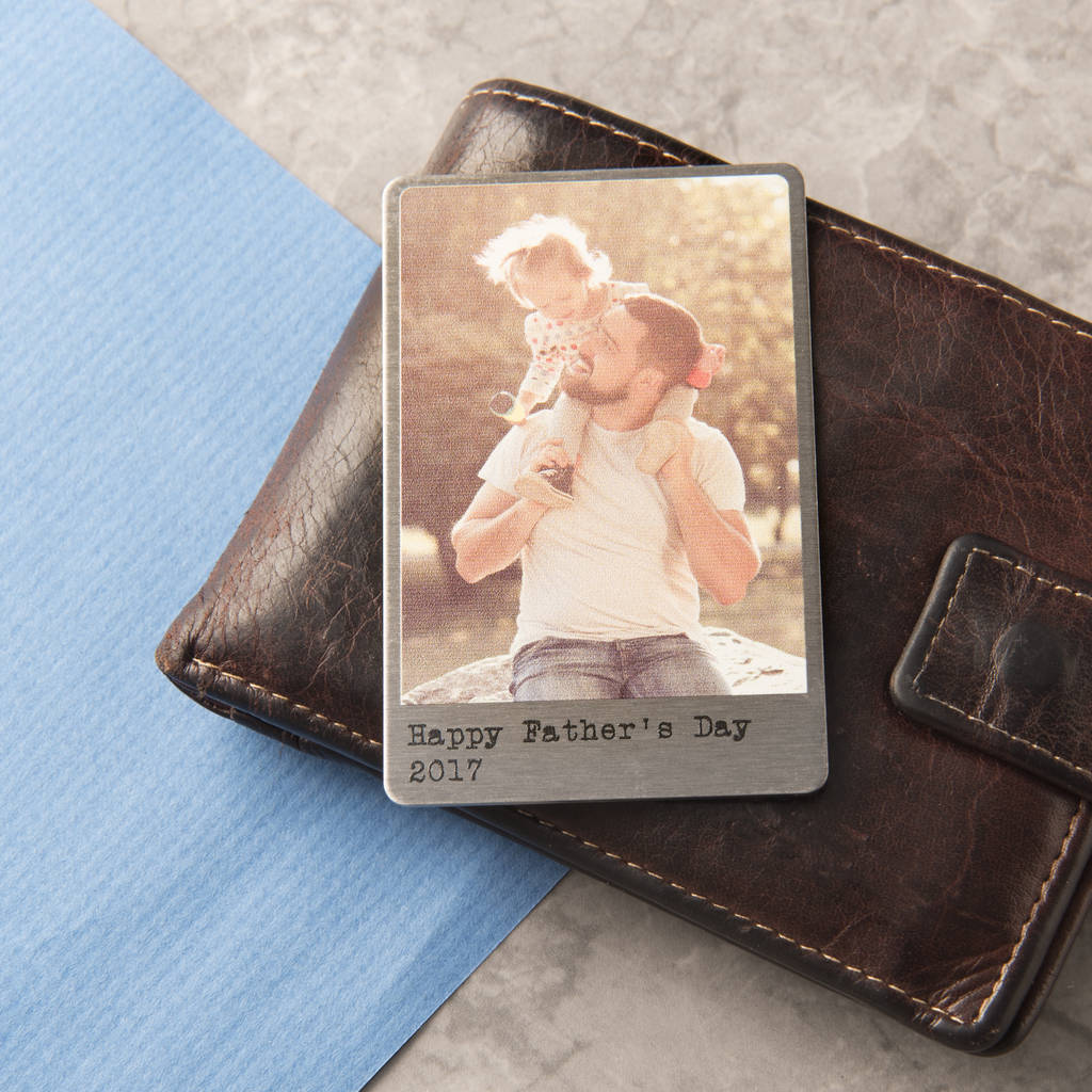personalised solid copper wallet photo card by oakdene designs ...