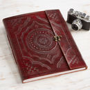 Handmade Indra X Large Embossed Leather Photo Album